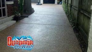 exposed aggregate pressure washing and sealing