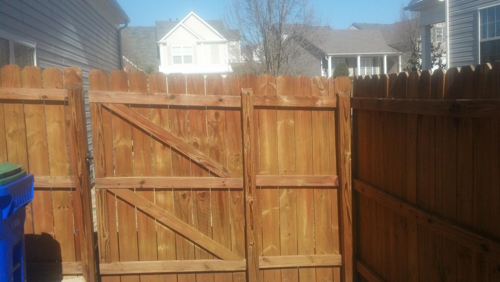 8 year old fence