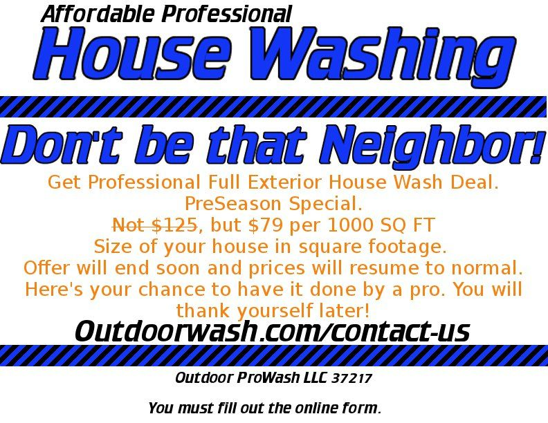 House Washing Deal