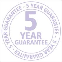 graphic displaying 5 year guarantee