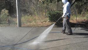 Pressure Washing Prepping for Sealer application