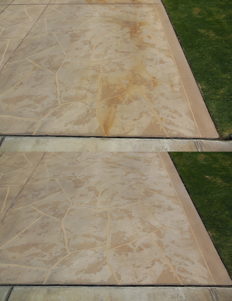 Tennessee professional rust removal outdoor prowash for Remove cement stains from paving