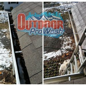 Gutter Clean Out for a 2500 SF Home